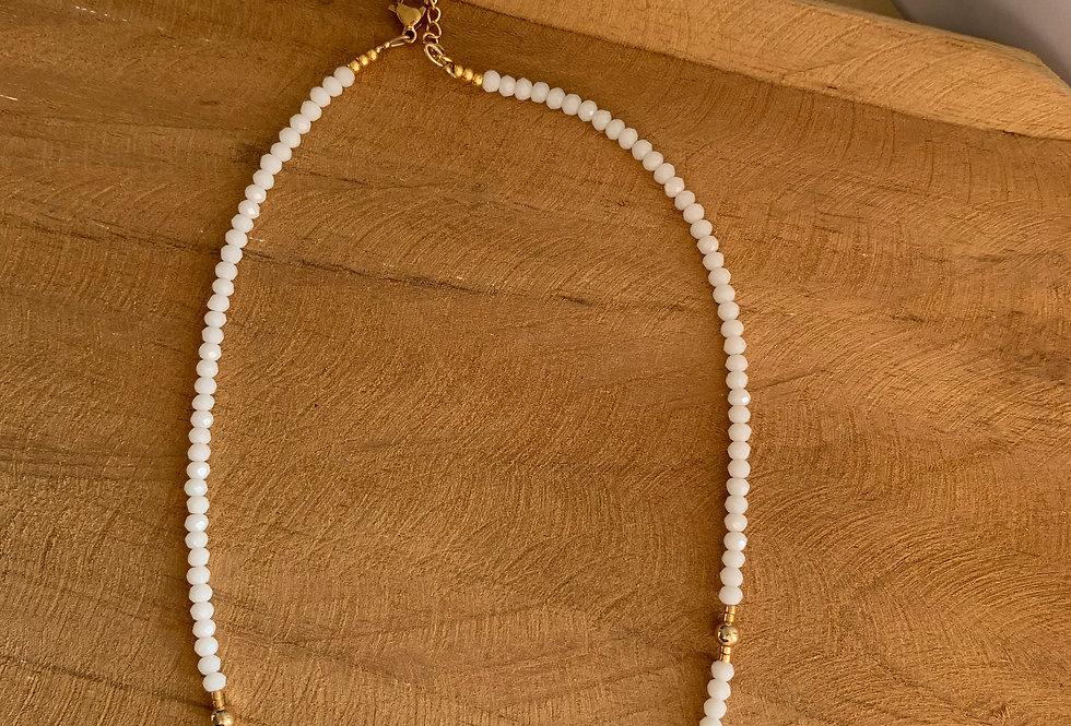 Collier Brunette blanc