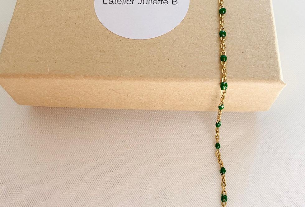 Bracelet Perlette vert