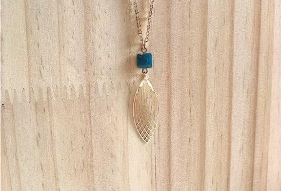 Collier Lisette bleu canard