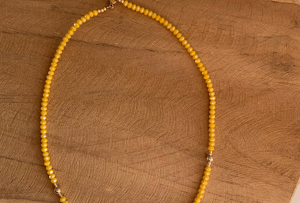 Collier Brunette jaune