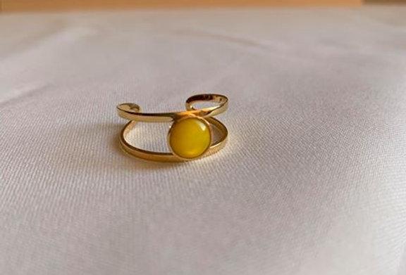 Bague Brunette jaune