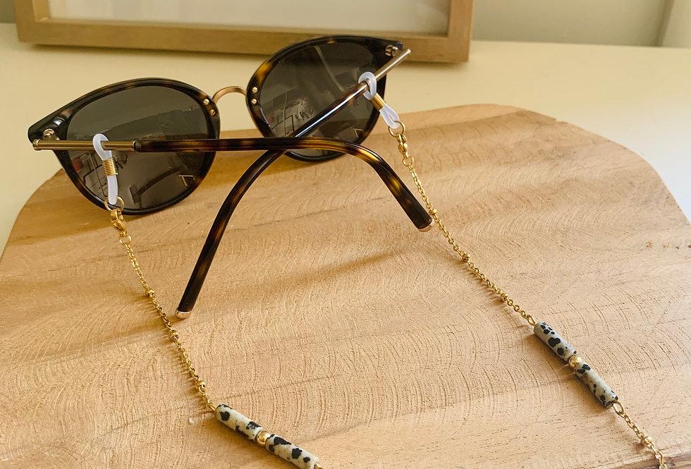 Chaîne de lunette perles tubes