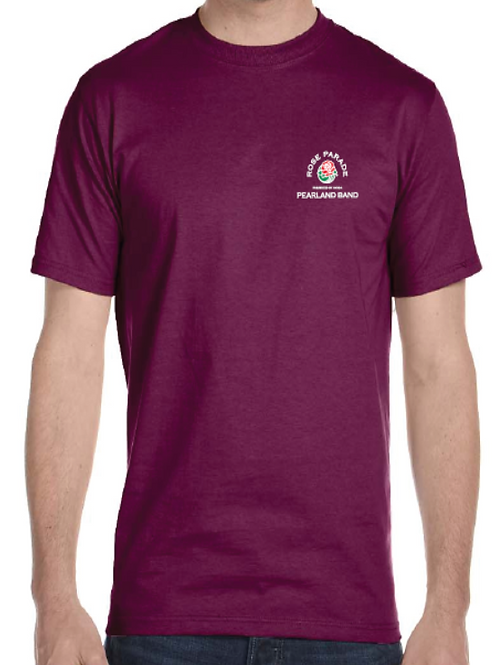 Pearland Band Rose Parade® Official Small Logo Maroon T-Shirt-ADULT