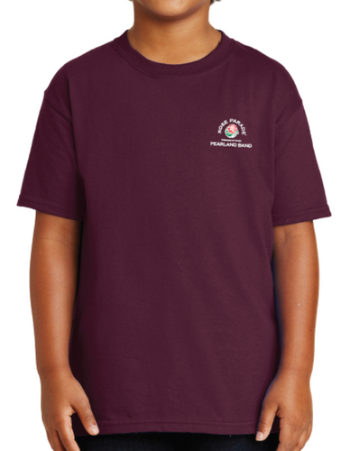 cfaf2d94 Pearland Band Rose Parade® Official Small Logo Maroon T-Shirt-YOUTH