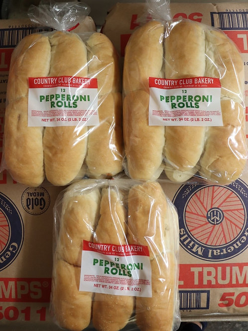 3 dozen pepperoni rolls