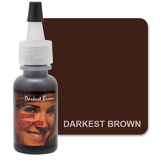 "Пигмент для татуажа Custom Cosmetic Сolors ""Darkest Brown"" 15 мл."