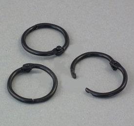 Кольца разъемные черные