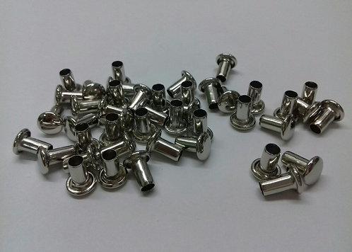 Заклепки для кольцевых механизмов металлические (100шт.)