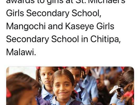 GGSF Expands in Africa & Awards Scholarships to Malawi Girls