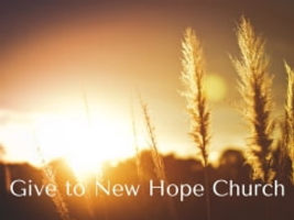 Give to New Hope Church in State College