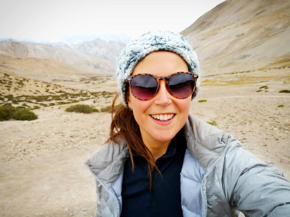 A woman on an adventure
