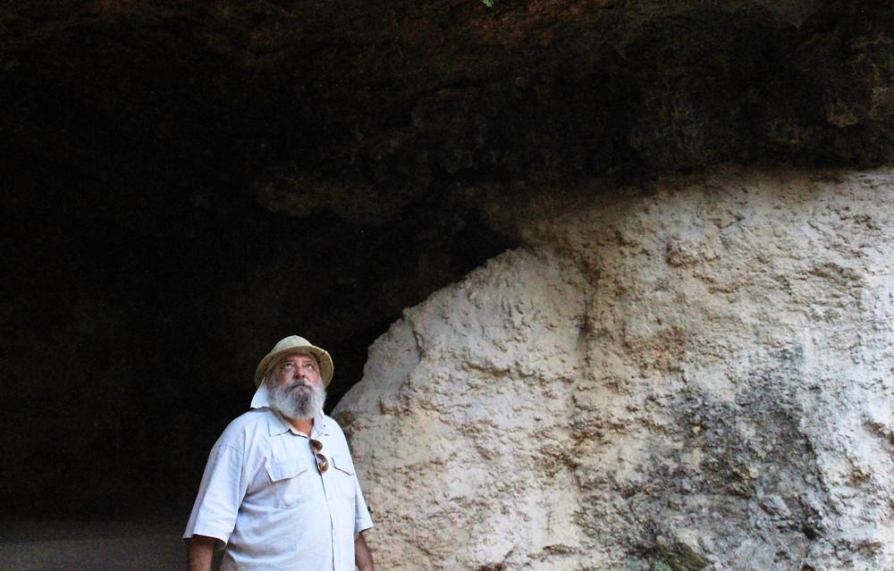 Prof Diaconescu at the Roman Spa in Geoagiu Bai