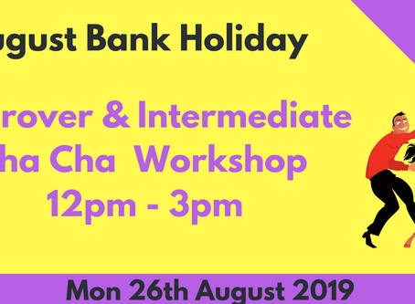 August 2019 Salsa & Cha Cha Workshops, Practice Sessions & Socials