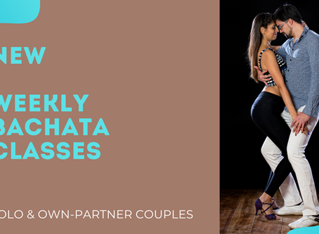 **NEW** Weekly Bachata classes online and in-studio
