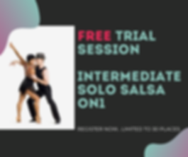 Intermediate Solo Salsa On1 - FREE TRIAL