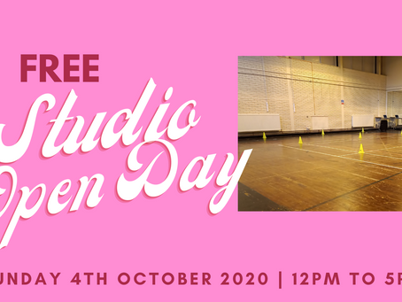 Studio Open Day - Sunday 4th October 2020