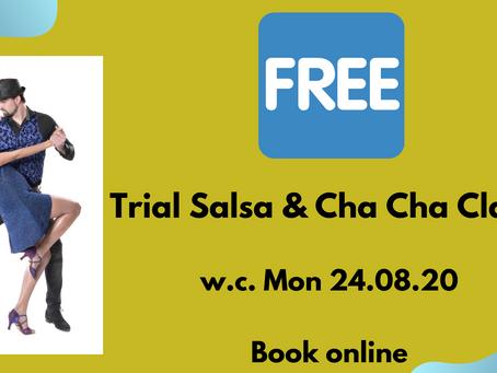 FREE Trials of Salsa & Cha Cha Classes