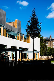 Camden School Courtyard in London