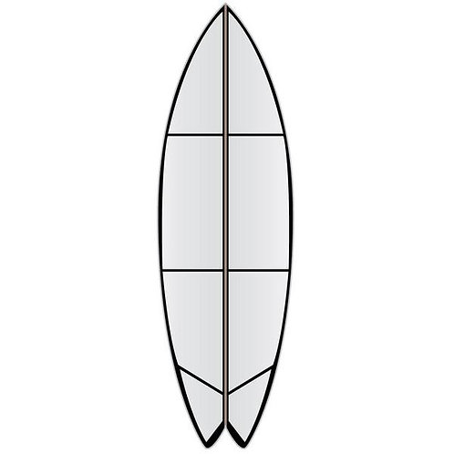 """Versatraction Fish boards up to 6'6"""""""