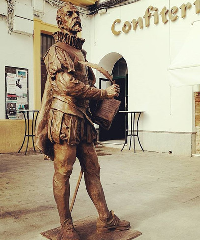 #escultura de #cervantes en #lapalmadelc