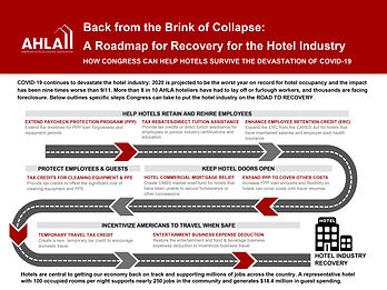 Hotel Industry Recovery Roadmap for Cong
