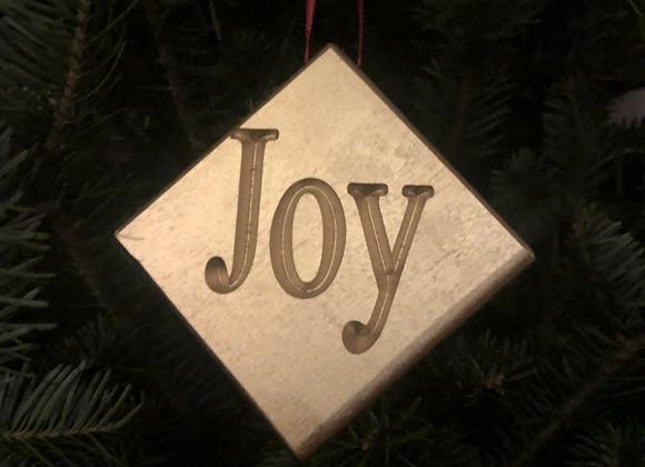"Gold ""Joy"" Ornament"