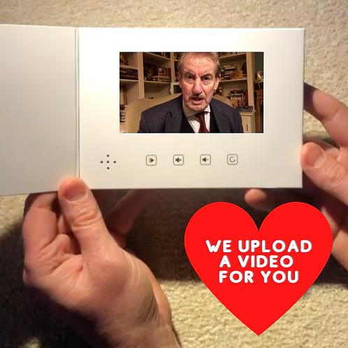 We will upload your video onto the card for you