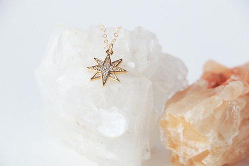 14k Gold Star Pendant