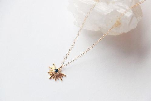 Onyx Sun Necklace