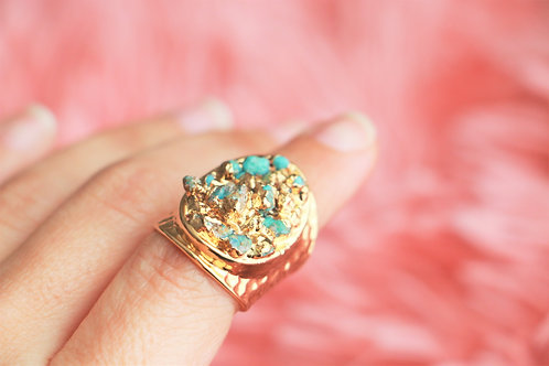 Turquoise Chip Ring