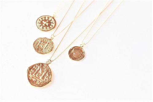 14k Gold Coin Necklaces