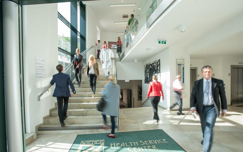 Eingangsbereich Ordinationszentrum Wiener Privatklinik