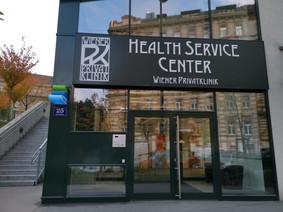 Eingang Ordinationszentrum Wiener Privatklinik