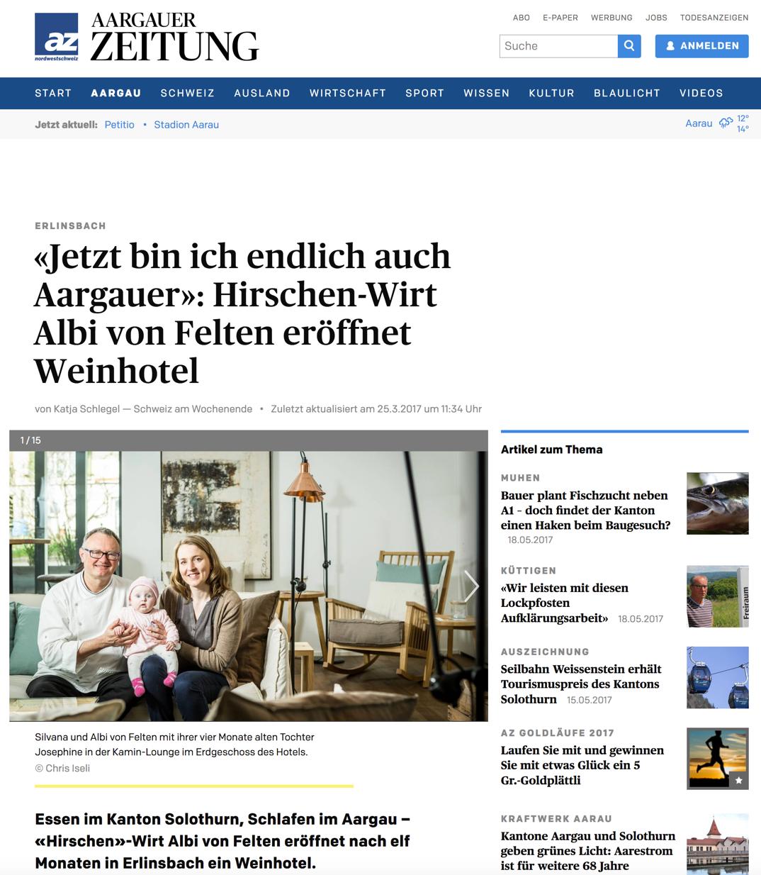 Argauer Zeitung 2017