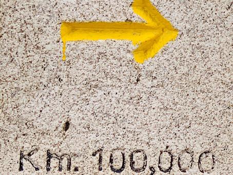 La borne des 100km, tout un symbole...