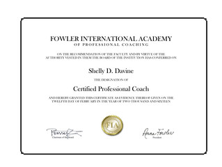 I can finally call myself a Certified Life Coach!