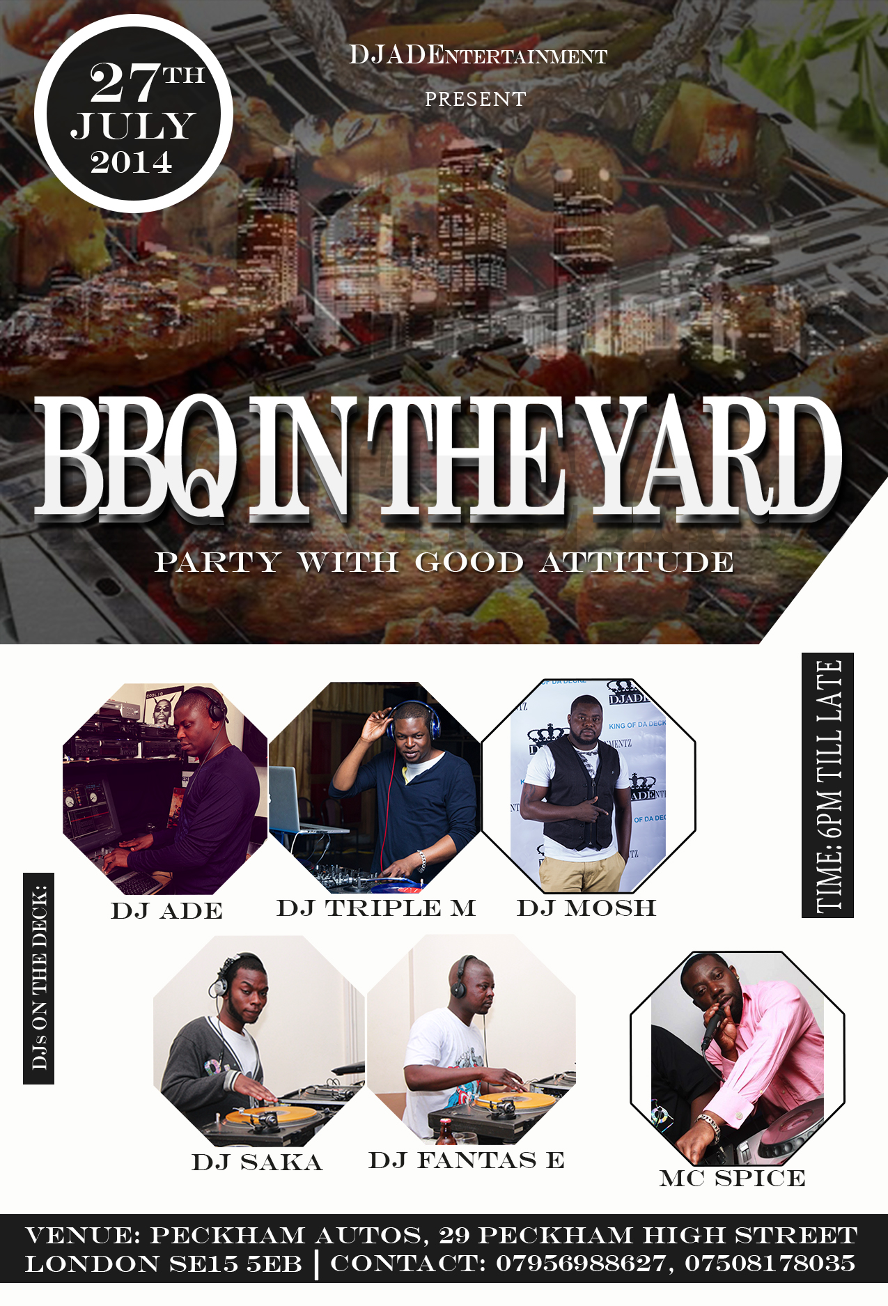BBQ in the yard poster