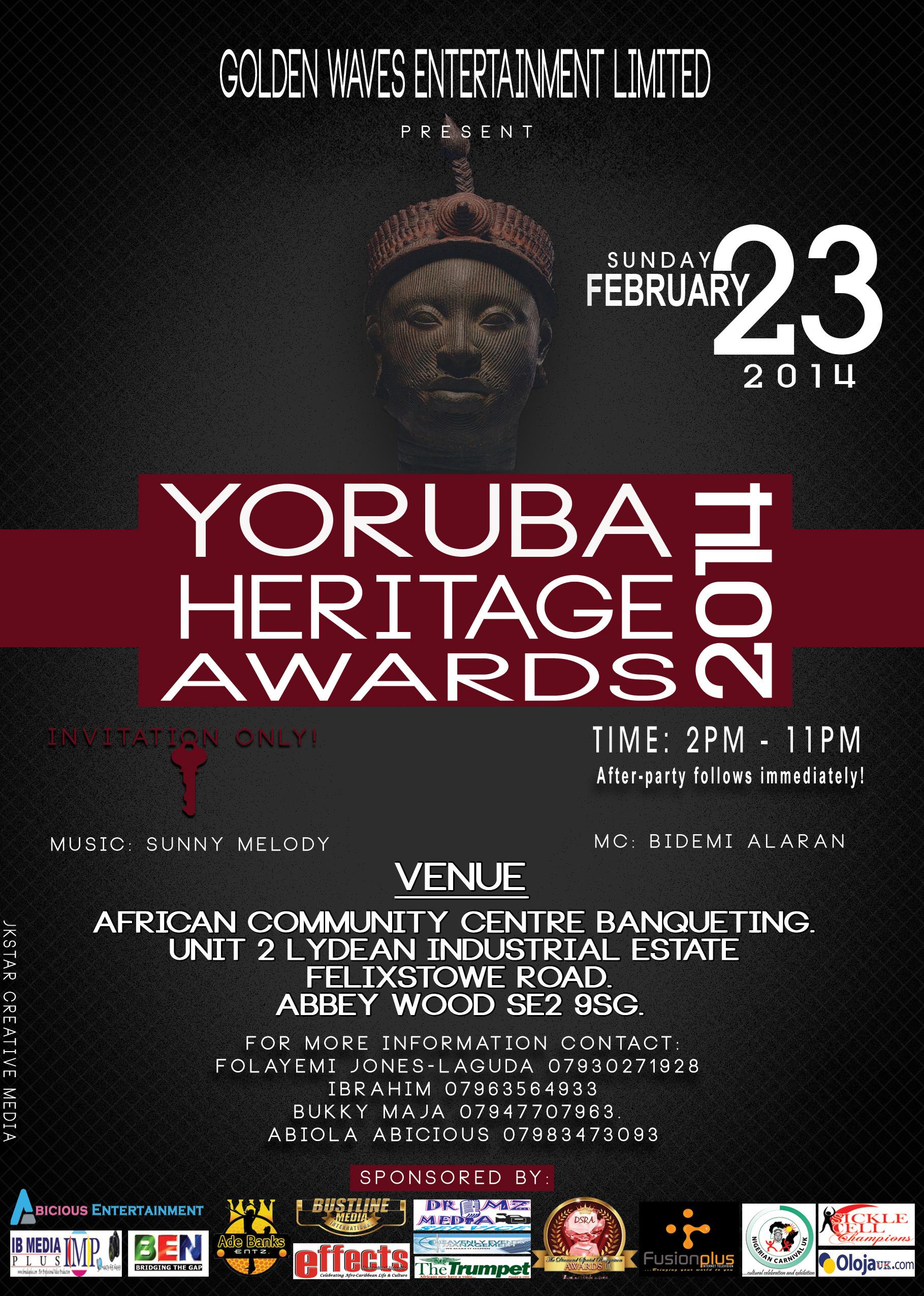 YORUBA HERITAGE AWARD 2014