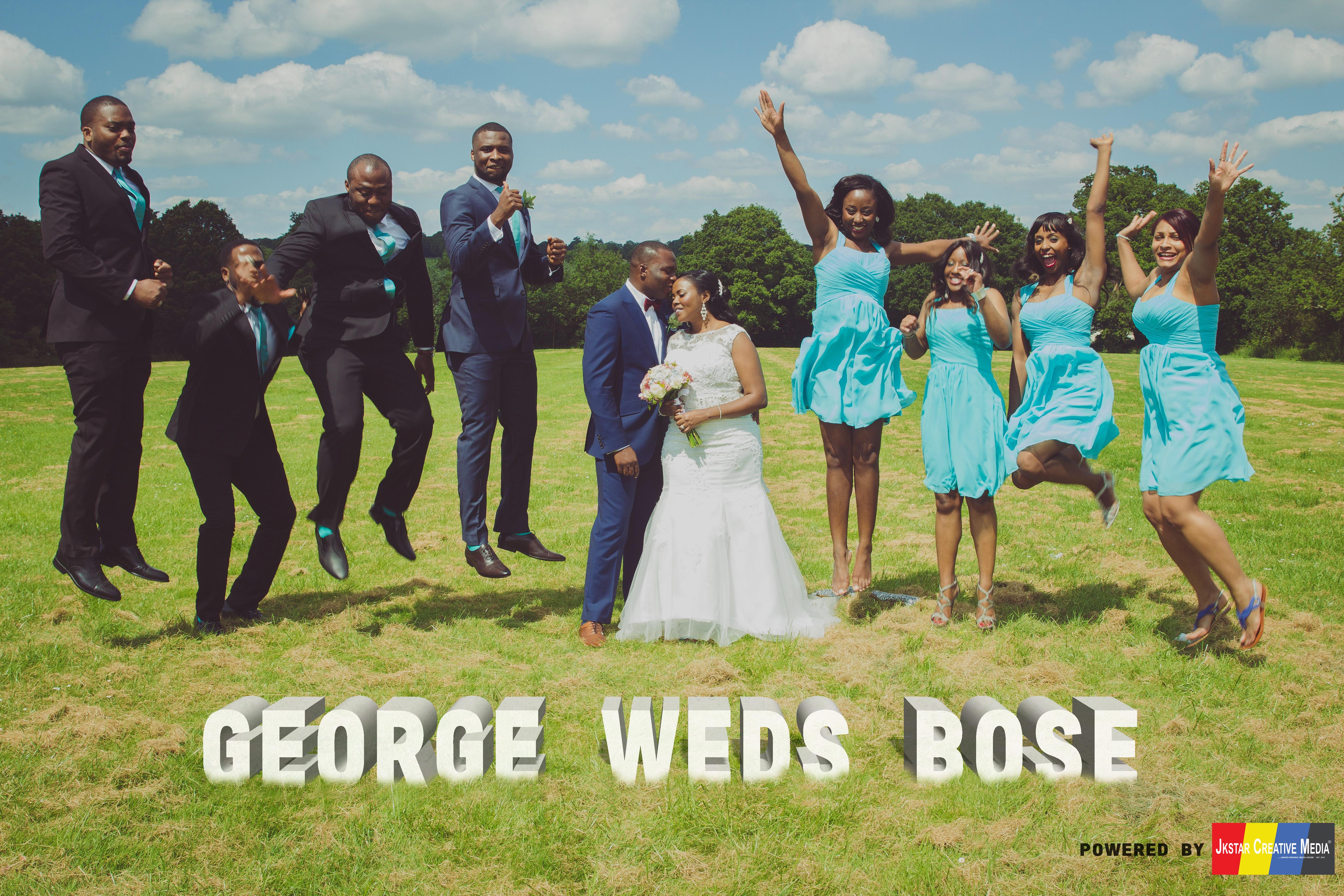 Wedding Jumping Pose