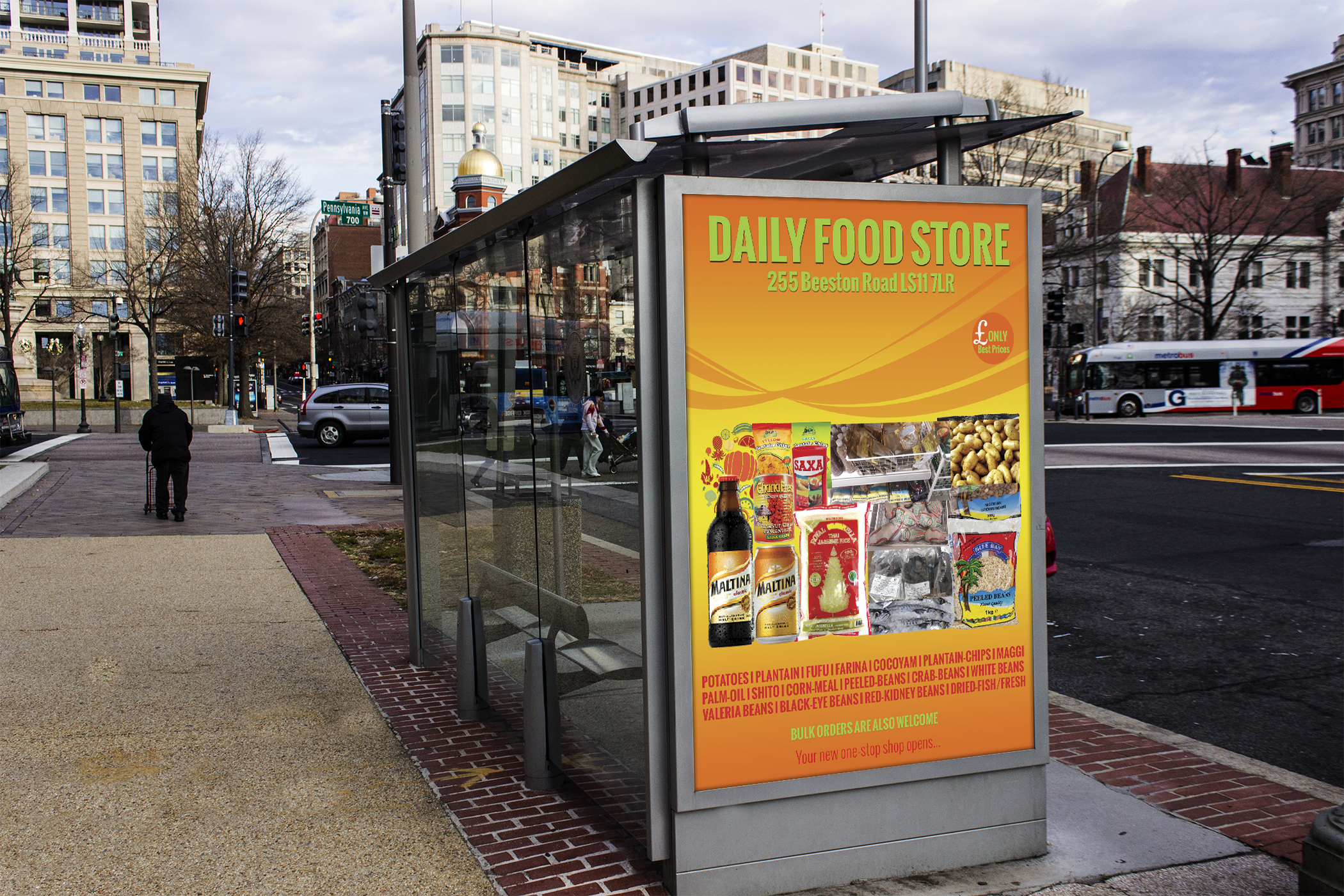 Bus Stop Ad - Daily Food Store