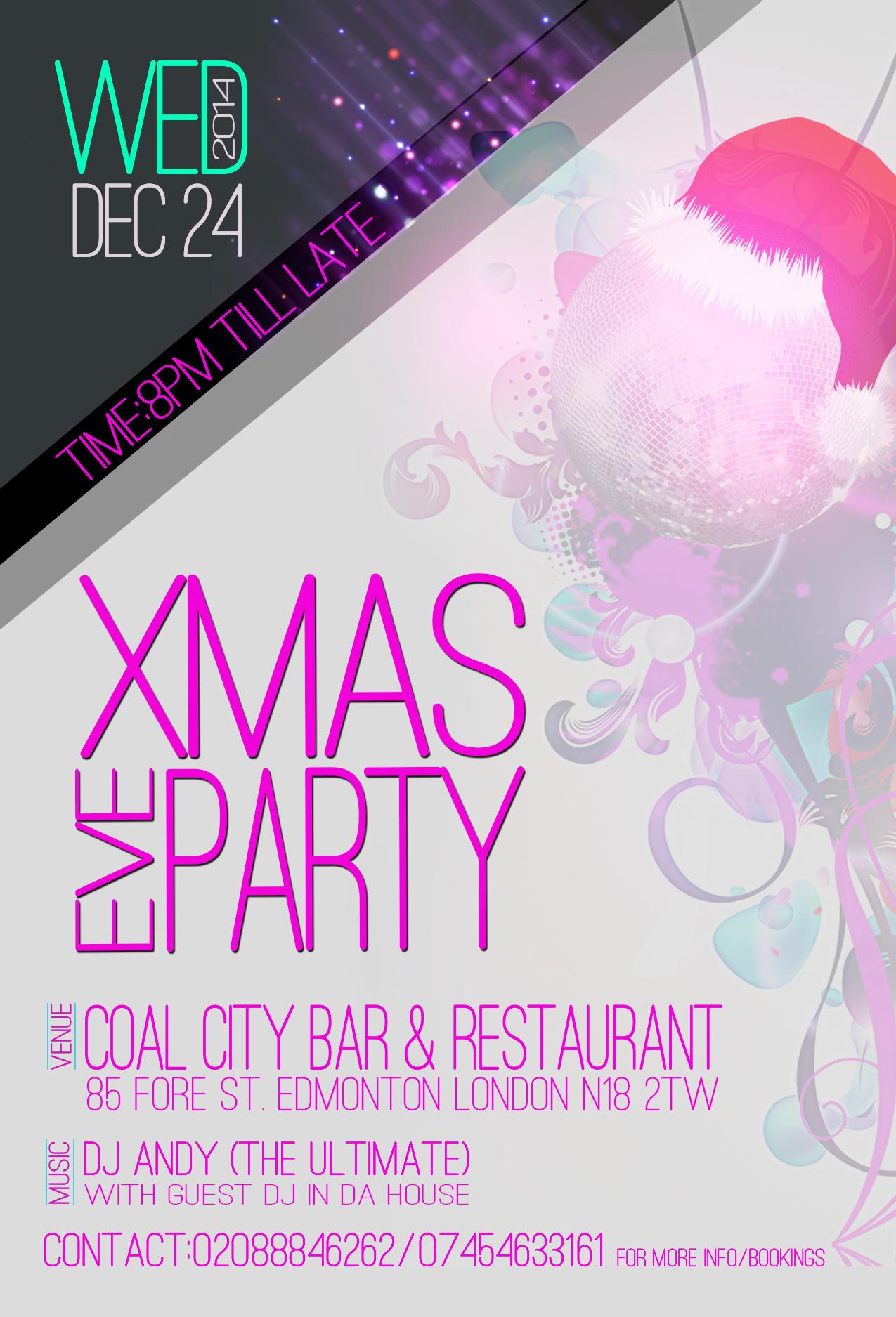 Xmas Eve Party Flyer