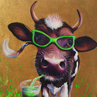 Green cow !