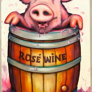 Rosé wine !