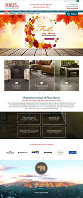 A website I designed for a flooring company in Big Bear Lake, California. The website is responsive; and, designed with various code to add stunning effects and visual quality.