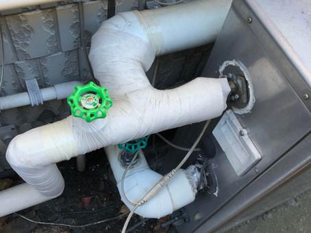 凍結防止帯交換作業