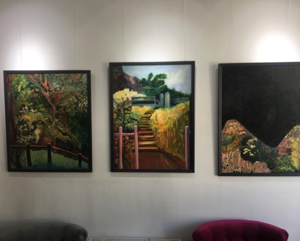 Original paintings by local artist Nancy Collantine