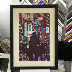 Blade Runner print framed in artglass