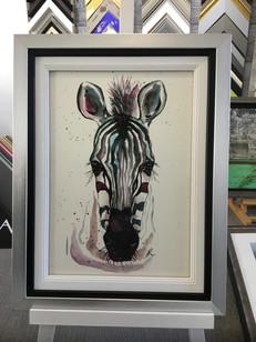 clients own print framed using traditional inner slips