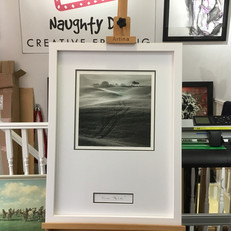limited edition print mounted and inscription added. Framed in artglass