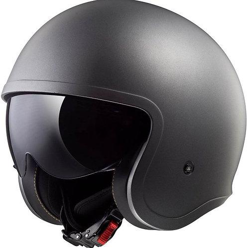 LS2 OF599 Spitfire Openface Helmets Matt Titanium